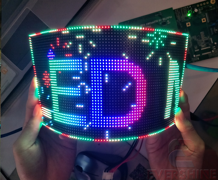 full color indoort p3 RGB led display module SMD2121 80x40 pixel 240x120mm led flexible led module display boards (7)
