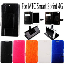 For MTC Smart Sprint 4G High Quality Wallet Protective Cover Skin Book-Style Fashion PU Flip Leather Case