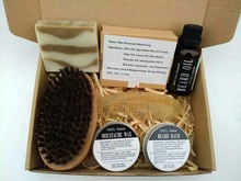 Preboily Gift Set Natural & Organic Beard Oil with Beard Comb  - BEST DEAL! Leave-In Conditioner for Groomed Beard Growth