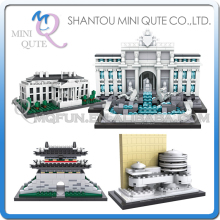 Mini Qute LOZ world architecture famouse Solomon R.Guggenheim Lincoln Memorial Sungnyemun DIY building blocks educational toy(China)