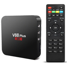 V88 плюс Android tv box Android 8,1 tv box RK3229 4 ядра 4 К USB2.0 2 ГБ/16 ГБ Miracast tv box Wi-Fi PK tv box X96 X96 мини(China)