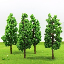 4pcs Train Layout Set Model Trees Scale G O 17cm model railroad wood trees G17055 railway modeling tree model building kits