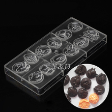 Horoscope Pudding 12 Zodiac Constellation Star Sign Injection Hard Polycarbonate PC Jelly Chocolate Mold Mould(China)