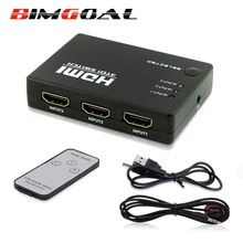 Hot Sale 1080P 3 input to 1 output HDMI switcher HDMI switch Hub Splitter TV Switcher Ultra HD for HDTV PC for PS3 Xbox360(China)