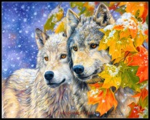 Counted Cross Stitch Patterns - Ankicoleman Designs High Quality Charts - Needlework for Embroidery DIY DMC - Snow Wolves