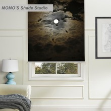 MOMO Blackout Window Curtains Roller Shades Blinds Thermal Insulated Fabric Custom Scenic ,PRB set179-183