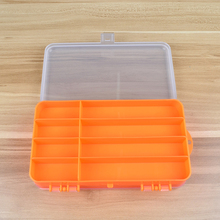 JOSHNESE High Strength Transparent Plastic Fishing Tackle Box For Fishing Lure Orange Two Side Open Fishing Spoons Accessories