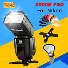 Buy Pixel X800N Pro ITTL HSS 1/8000S High Speed Sync Flash Speedlite Nikon d7100 d3100 d5300 d7000 d90 d750 Vs YONGNUO YN568EX for $110.88 in AliExpress store