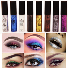 New Brand Glitter Shimmer Eye Liner Gel Maquiagem Waterproof Liquid Top Quality Black White Gold Eyeliner Shadow Makeup Eye Lips