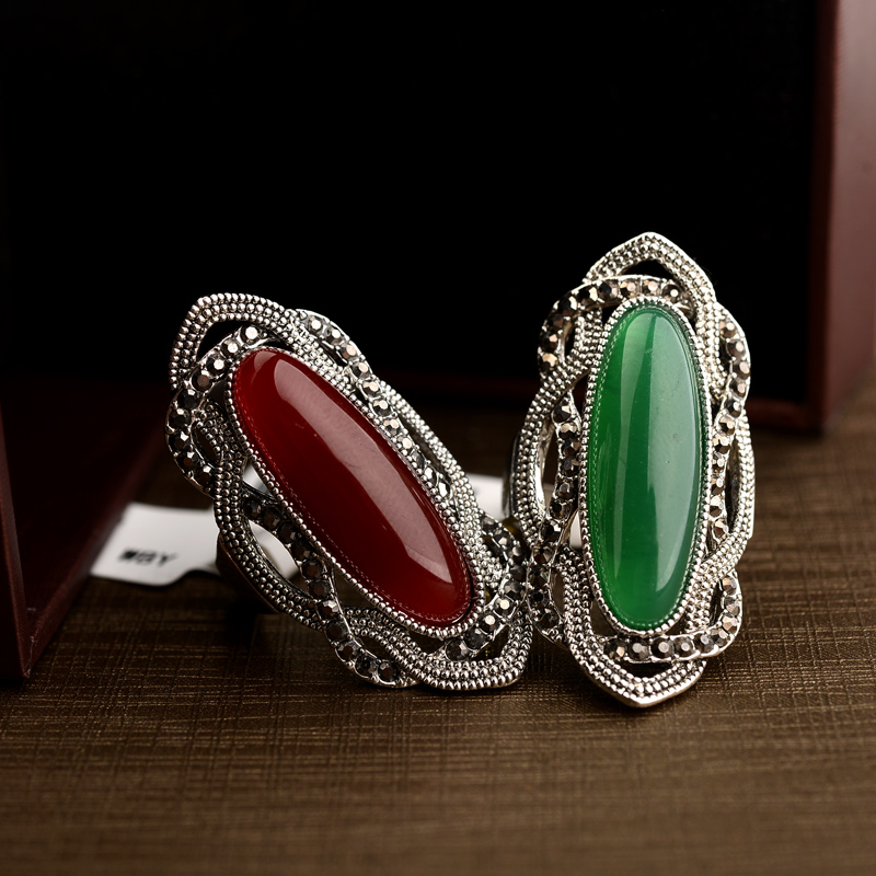 Real Austrian Crystals Classic Vintage pattern Antique Silver Color Fashion Rings For women Top Sale New 10355(China)