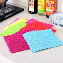 Quilted square home kitchen sucking thick microfiber cloth dish towel wholesale
