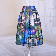 The new range of women's literature printed ball gown skirts City Lights hit color tutu skirts 2015 new summer style in Europe