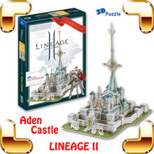 New Arrival Gift Lineage 2 Online Game Aden Castle 3D Model Building Puzzle PC Game Structure Collection DIY Built Fun Smart Toy(China)