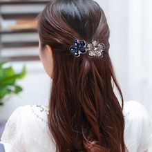 1 pcs Fashion Women's Crystal Rhinestone Flower Metals Hair Pins Barrette Butterfly Hair Clip Hair Band Accessories