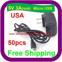 50PCS 5V3A 5V/3A 5V/3000mA Raspberry PI 3 Power Adapter power supply charger DC/AC Adaptor PSU Power(China)