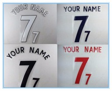 [Power Lock]17-18 FA Premier League white/Black/Blue/Red/Golden  Adult customized heat transfer number #0 To #9,A To Z,Easy Diy