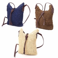 THINKTHENDO Women Handmade Hollow Out Woven Bag Trend Women's Handbag Straw Shoulder Bag Beach Hobo Bag Crossbody(China)