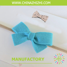 new products 2018 New Design Hot Sale High Quality Hair Bow With Elastic Band Butterfly hippie boho hairband(China)