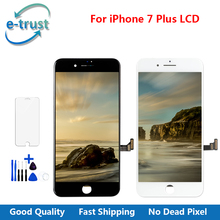 e-trust Top Quality Display Screen For iPhone 7 Plus Touch Glass Digitizer Assembly With Tempered Glass + Tools + Free Shipping(China)