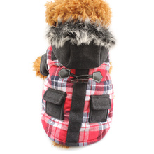 Armi store Pocket Plaid Fashion Winter Warm Dog Coats Dogs Coat Jackets 6141015 Pet Clothes Supplies