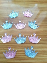1000pcs/lot Acrylic Crown Rhinestones Scrapbook Project Craft  Baby Shower Favor For Boys And Girls Birthday Party Decoration