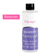 Lily angel Gel Soak Off Remover High Quality Non-Acetone UV Nail Polish Varnish Gel Cleaner Degreaser 1 Bottle 60ML(China)