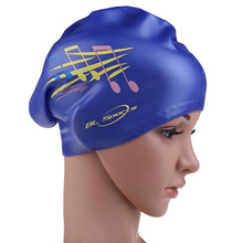 Durable New Silicon Soft Swimming Cap Waterproof Swimming Hat Adult Diving Multicolor Cover Music Notes