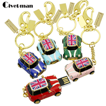 Pen Drive Mini Cooper Style Car Metal USB Flash Drive 128GB 64GB 32GB 16GB 8GB USB 2.0 Pendrive USB Memory Stick Flash Disk Gift(China)
