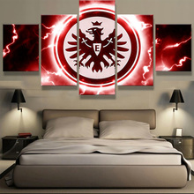 5 Panel Eintracht Frankfurt Football AG Fans Canvas Painting Wall Art Prints Home Decor Picture Panels Poster For Living Decor