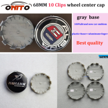 r Wheel Center Hub Cap 68MM 10 claw Gray base Modified car Cover Ca Auto Logo Emblem Wheel for alpina(China)