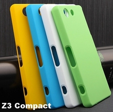 Z3 Compact Case Rubberized Matte Hard Cover Case For Sony Xperia Z3 Compact D5803 D5833 Hard Cover Case + Screen Tempered glass