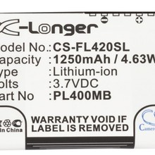 Cameron Sino 1250mAh Battery PL400MB,PL500MB for Fujitsu Loox 400,410,420,C500,C550,N500,N520,N520c,N520p,N560,N560C,N560e,N560p