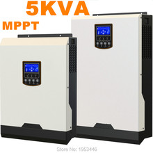 Cool ! Solar Inverter 5Kva 4000W Off Grid Inverter 48V to 220V 60A MPPT Inverters Pure Sine Wave Hybrid Inverter 60A AC Charger