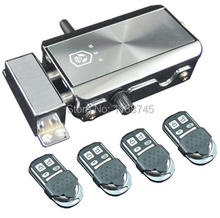 Electronic Security Entry Door Lock Access Control Anti-theft System with 4 Remote Controls
