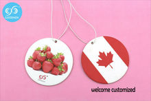 Cheap directly selling personality fruit and flag air freshener perfume for promotion,only welcome customer design