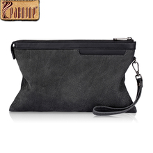Pabojoe Mens Day Clutch Bags Women Handbags Italian Genuine Leather Travel Organizer Pouch ipad Mini Holder