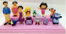 Anime Cartoon Dora PVC Figures Toys Child Children Kids Toys Dolls Gifts 12pcs/lot(China)