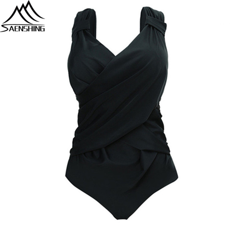 SAENSHING Plus Size 5XL One Piece Swimsuit Women Spring Summer Sexy Monokini Quick-Dry Good Quality Swimwear Women One Piece<br>
