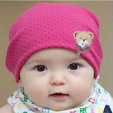 WENDYWU Lovely Cute Infant kids baby Beanies Hat cap for boys girls solid color soft hat thick baby cold cap super pocket hat(China)