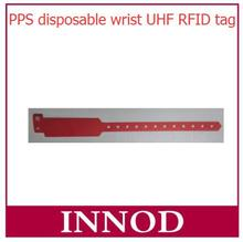 New design colorful PPS material button alien h3 disposable wrist uhf rfid tag bracelet wristband rfid tags with reusable wrist