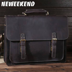 Сумка-мессенджер NEWEEKEND из натуральной воловьей кожи в стиле ретро, 14 дюймов, для ноутбука, Ipad, 6912