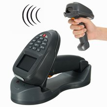 USB Wireless Scanner Kit Barcode Scanner Gun Handheld Scanner Keyboard Code Reader Payment Computer Laser Scan for POS Laptop