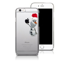 Cute cartoon Snow White snowman Christmas hat transparent plastic Hard Cover Case For iPhone 4 4S 5 5S SE 5C 6 6s 6plus 7 7Plus
