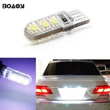 BOAOSI 1x Cold White License plate Light No Error T10 5050SMD LED For Fiat Punto (188) Punto/Grande Punto (199) Punto Evo