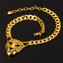 Vintage Leopard Necklace For Women Men Jewelry Fashion Jewelry Gold/Silver Color Chokers Necklaces N727