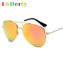 Ralferty Oval Kids Sunglasses Girls Mirror Child Infant Outdoor Goggle Safety Glasses UV400 Brand Designer Metal Eyewear Oculos