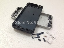 10pcs/lot black white Gold color Full Back Battery Cover Housing For iphone 5 5G Free shipping