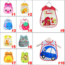 2017 New Baby Kids Cute Cartoon EVA Waterproof Silicone Children Bibs Boys Girls Infants Burp Clothes Feeding Care  YH-17