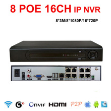 Buy 8*3MP/8*1080P/16*720P NVR POE 8CH IP Recorder P2P NVR Onvif 8CH 3MP 16ch 720p Network Surveillance Video recorder ip camera for $229.00 in AliExpress store