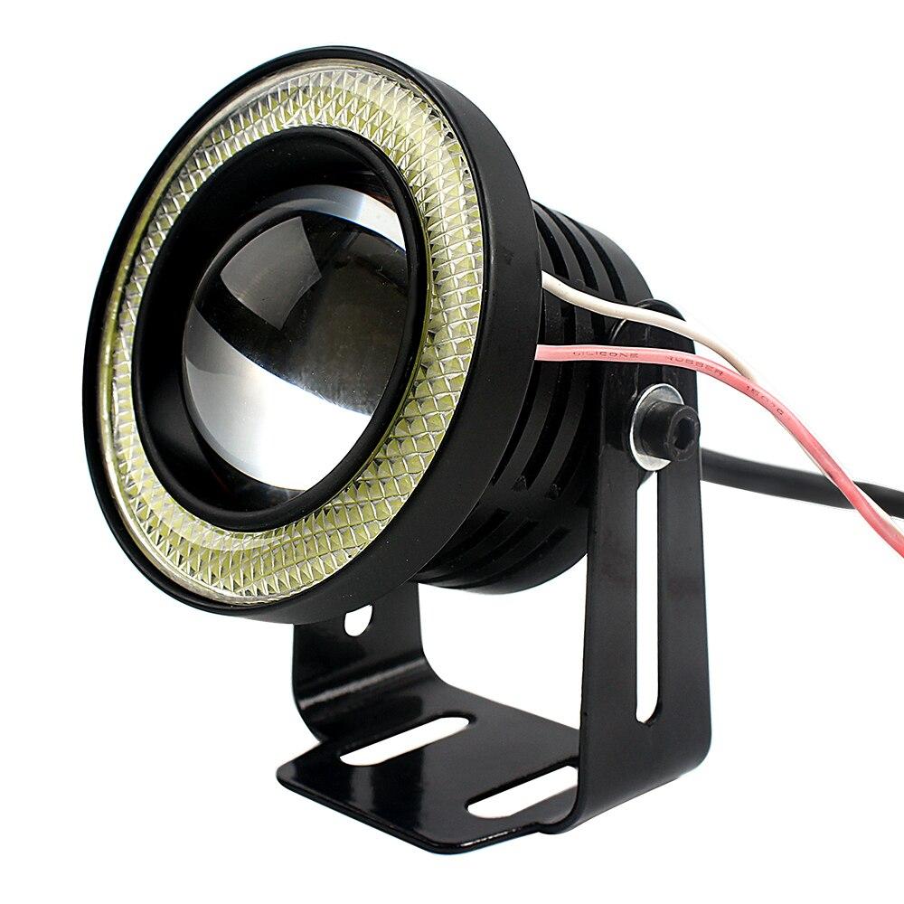 Car-styling Car Accessories LED COB Lights Angel Eyes Universal Daytime Running Lights Black DRL Car Fog Lamps 2PCs/lot #HP<br><br>Aliexpress